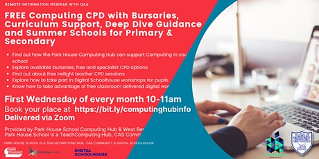 Park House Computing Hub - Computing Support for Schools - Information tickets
