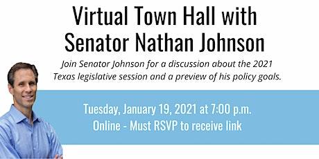 Senator Nathan Johnson's Virtual Town Hall tickets