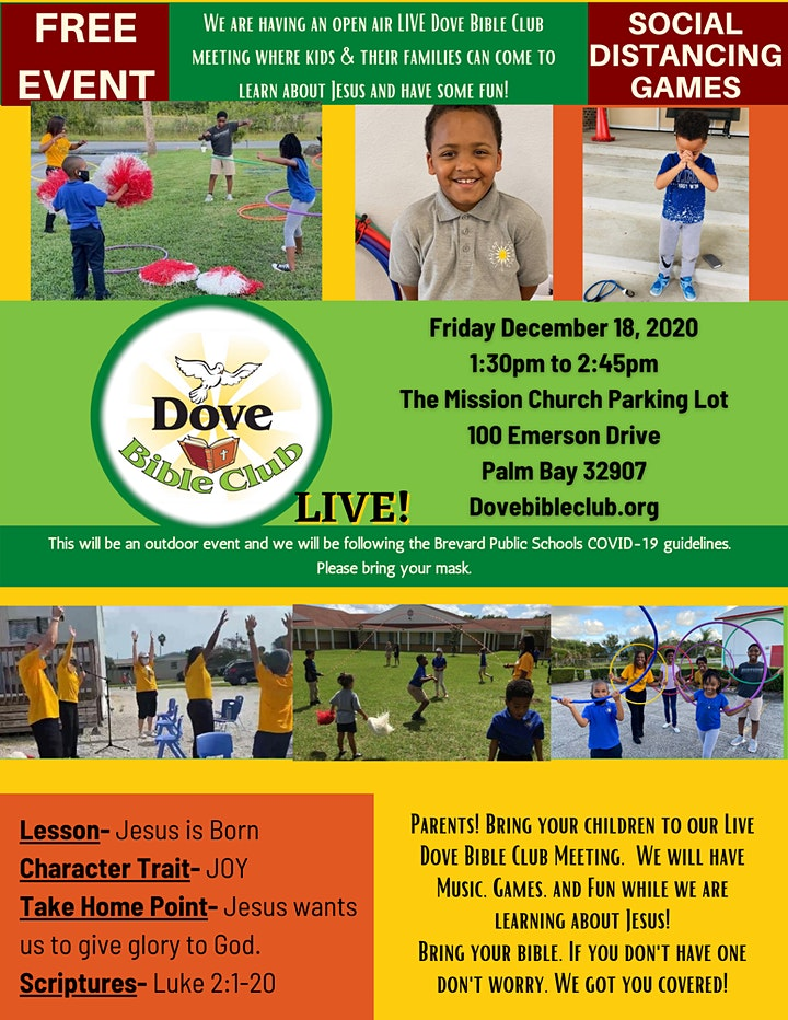 Dove Bible Club LIVE!  Birthday Party for Jesus (Palm Bay) image