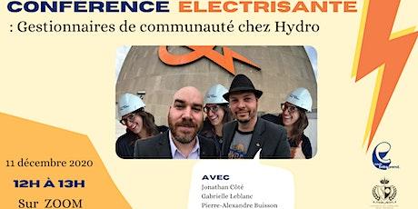 Conférence électrisante : Gestionnaires de communauté chez Hydro billets