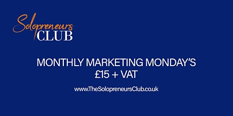 Monthly Marketing Mondays tickets
