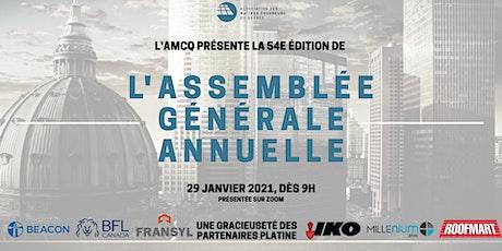 54e édition de l'Assemblée générale annuelle de l'AMCQ billets