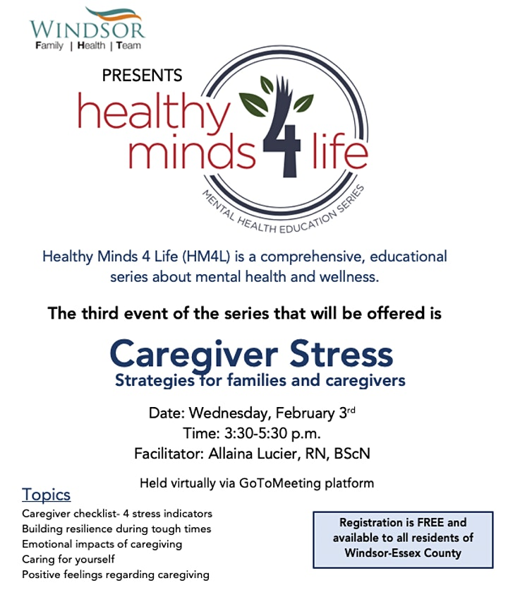 Healthy Minds 4 Life: Caregiver Stress image