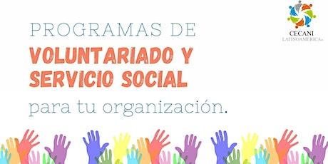 Programas de Voluntariado y Servicio Social para tu Organización. entradas