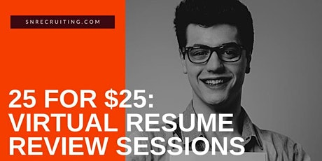 Resume Review & Interview Consultation - 25 mins for $25 tickets