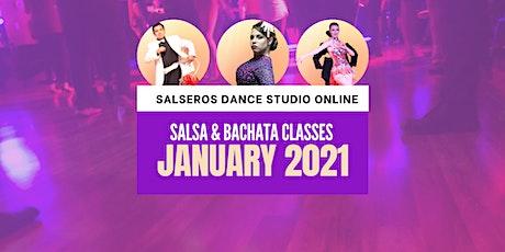 Salsa & Bachata Online Classes - January 2021 tickets