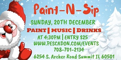 Christmas Paint-N-Sip tickets
