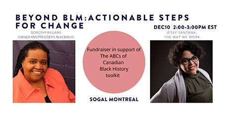 Beyond BLM: Actionable Steps for Change (SoGal Montreal) *Fundraiser tickets