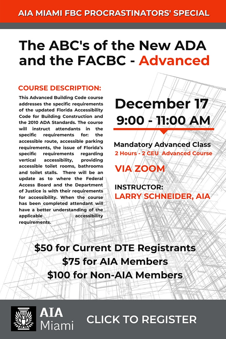 The ABC's of the New ADA and the FACBC - Advanced image