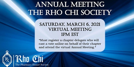 Rho Chi Annual Meeting 2021 tickets