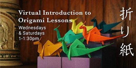 Virtual Introduction to Origami Lessons tickets