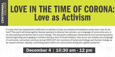 Love in the Time of Corona: Activism as Love tickets