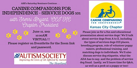 Saturday Seminar: Canine Companions for Independence - Service Dogs 101 tickets