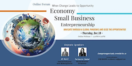 Economy, Entrepreneurship, Small Business-When Change Leads to Opportunity! tickets