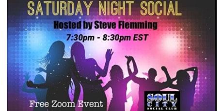 Copy of **Saturday Night Social** (This Saturday Night) (Free on Zoom) tickets