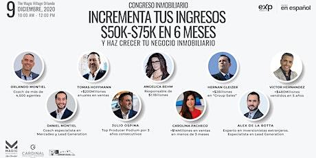 Incrementa Tus Ingresos $50K-$75K en 6 Meses tickets