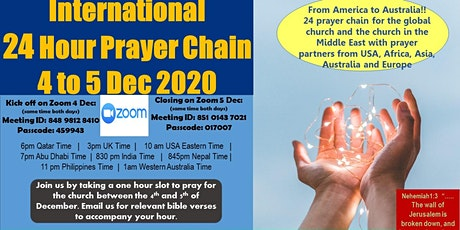 International 24 hour prayer train - 4 to 5 December 2020 tickets