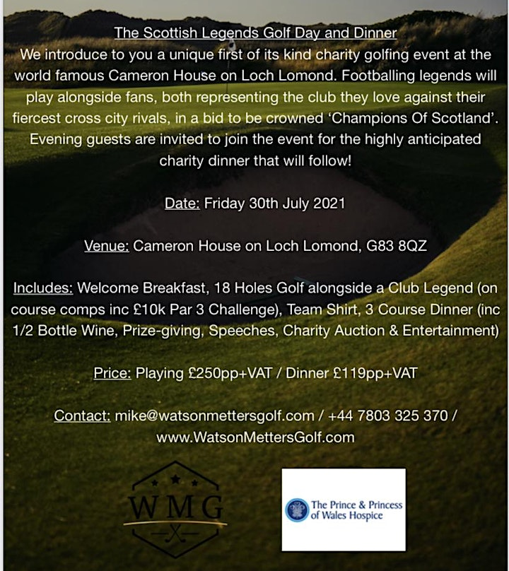 The Scottish Legends Football Charity Golf Day & Dinner @ Cameron House image
