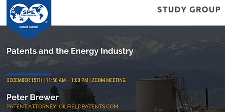 SPE Denver Study Group | Patents and the Energy Industry tickets
