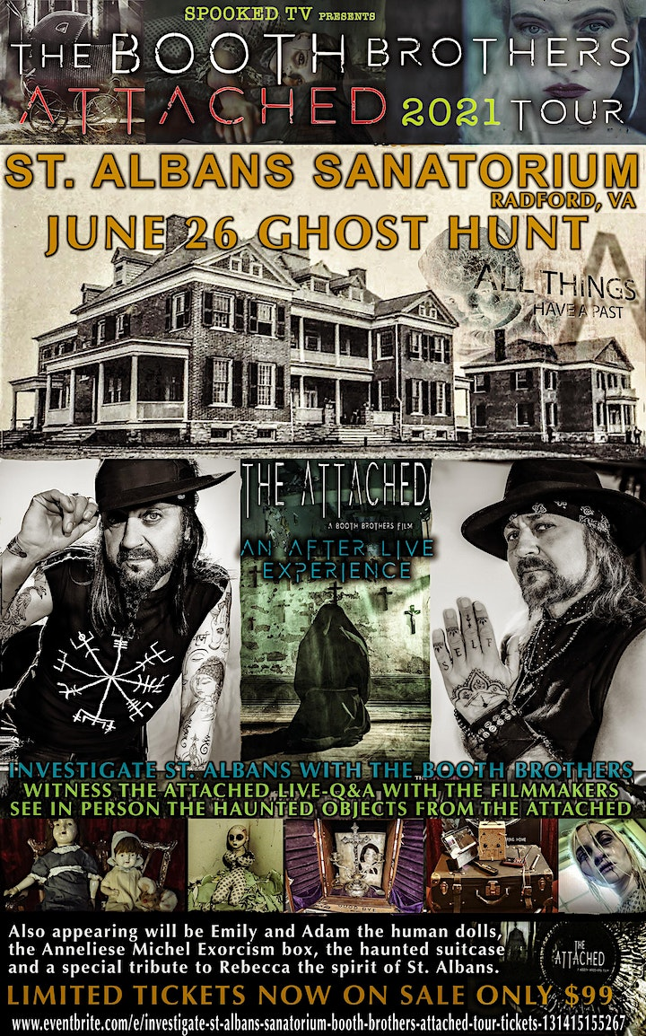 St.  Albans Sanatorium Ghost Hunt Booth Brothers Attached Tour. image
