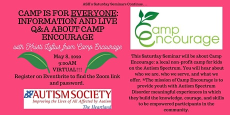Saturday Seminar: Camp Is For Everyone - Information and Live Q&A tickets