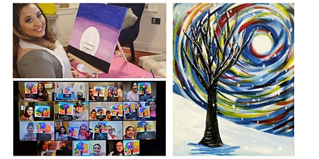 """Live Virtual Painting Class """"Winter Tree"""" tickets"""