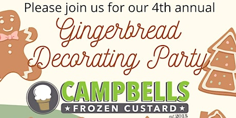 2020 Campbells Frozen Custard Gingerbread House Decorating Party - Event 3 tickets