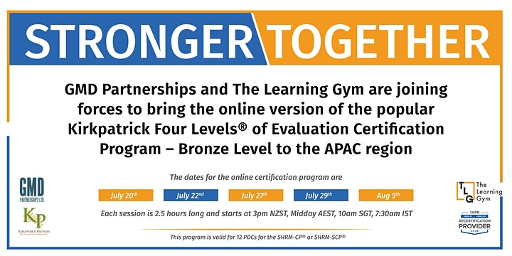 Kirkpatrick Four Levels® Evaluation Certification Program Online image