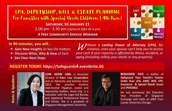 LPA, DEPUTYSHIP, WILLS, & ESTATE PLANNING for Families with Special Needs image