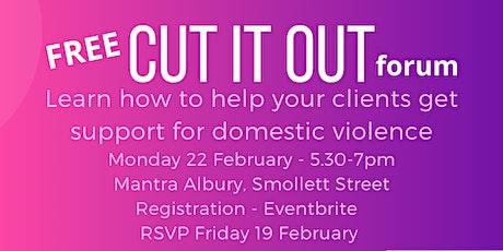 Cut it Out - DV info forum tickets