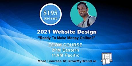 $195!!  2021 Website Design Course tickets