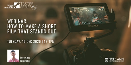 Webinar: How to Make a Short Film that Stands Out tickets
