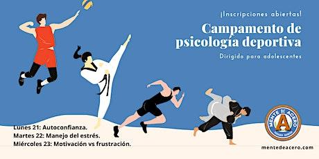 Campamento de psicología deportiva para adolescentes entradas