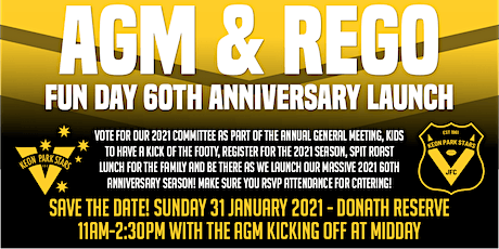 AGM & Rego Fun Day and 60th Anniversary Launch tickets