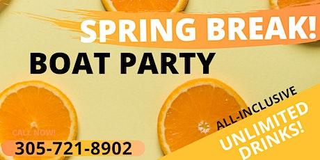 Spring Break Party Boat - Open Bar & Jetski + Party Bus tickets