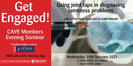 Get Engaged for Vets! - Using joint taps in diagnosing lameness problems tickets