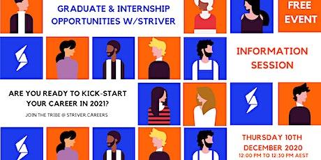 Graduate & Internship Opportunities w/Striver tickets