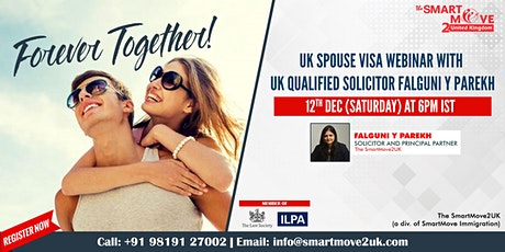 FREE Webinar - UK Spouse Visa with UK Solicitor Mrs. Falguni  Y. Parekh tickets