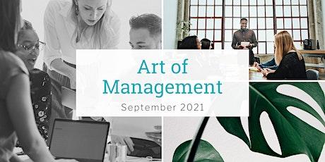 Art of Management - September 2021 tickets