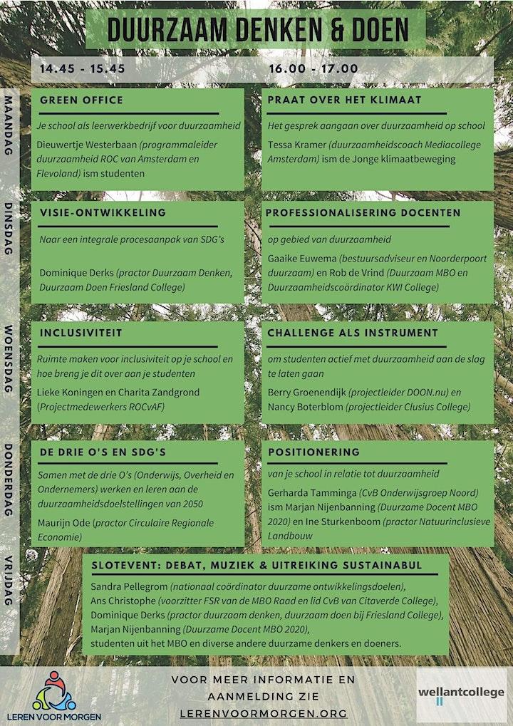 Afbeelding van Duurzaam Denken & Doen - online symposium voor duurzaamheid in het MBO