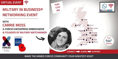 Military in Business Virtual Networking Event- East and West Midlands tickets