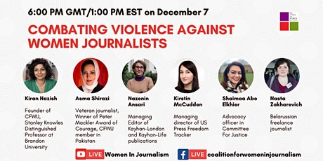 COMBATING VIOLENCE AGAINST WOMEN JOURNALISTS tickets
