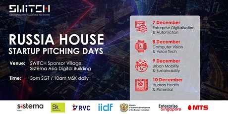 SWITCH 2020 - Russia House Startup Pitching tickets