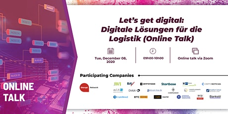 Let's get digital: Digitale Lösungen für die Logistik (Online Talk) tickets