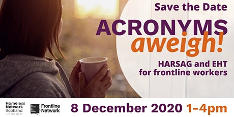 Acronyms Aweigh! HARSAG and EHT for Frontline Workers tickets
