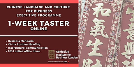 Chinese Language and Culture for Business: 1-week FREE taster (January) tickets