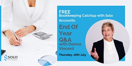 Bookkeeping Catchup with Solo Accounts: End Of Year Q&A tickets