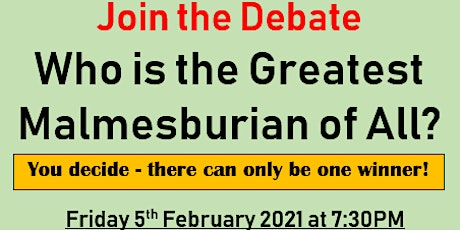 Who is the Greatest Malmesburian of All? tickets