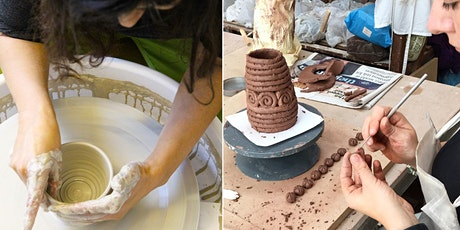 Beginners Intro Pottery Taster Class Saturday 27th March 2021 1-5.30pm tickets