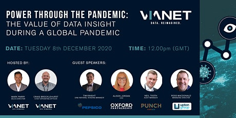 Power through the Pandemic: The Value of Data Insight in a Global Pandemic tickets